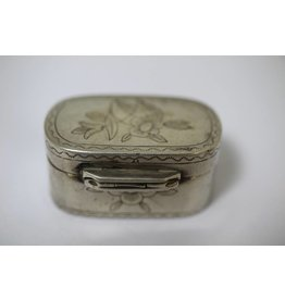 Silver pill box French 19th