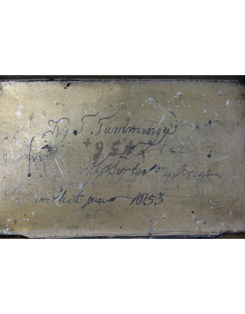 Antieke tabaksdoos beschilderd