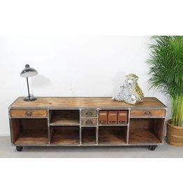 Industriële TV meubel sideboard verrijdbare meubel