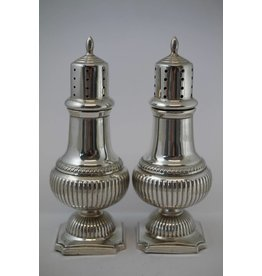 Old English silver pepper and salt set