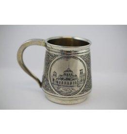 19th Russie's Silver Cup niello motif silver Russia