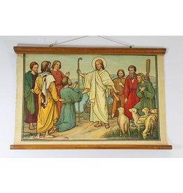 Schoolkaart Jezus boekhandel Brussel 54 x 82