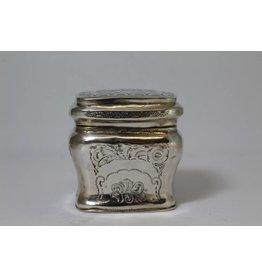 Old silver loderein box