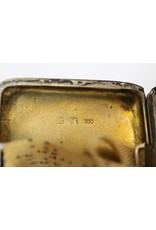 Zilveren Duitse geëmailleerde sigarettendoosje