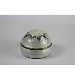 Antiek Geëmailleerde Zilveren doos