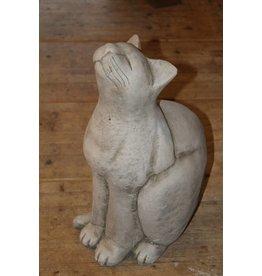 Betonnen zittende kat Engels Beton