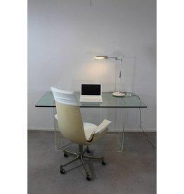 Vintage bureau Italiaans design van glas en plexiglas