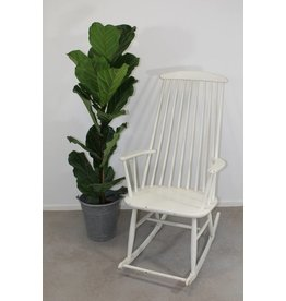 Danish vintage rocking chair white color