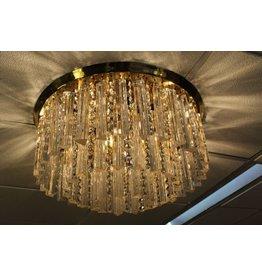 Grote J.T. Kalmar Ronden plafond lamp goud met 36 kg Kristallen gouden Regen