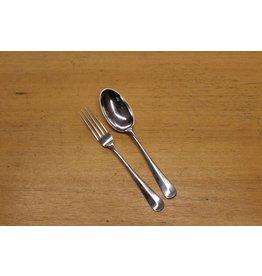 Zilveren tafelcouverts haagslofje 1954 per set