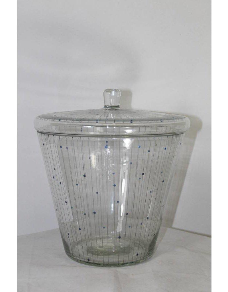 Glazen Bowlset Vintage 60's gestippeld