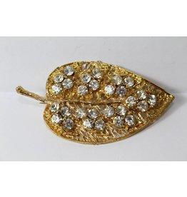 Vintage brooch leaf
