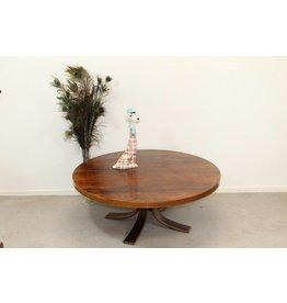 Coffee table around veneered rosewood