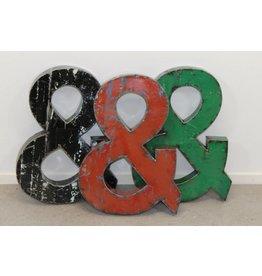 Metalen industriële letter '&'