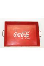 Coca Cola dienblad metaal rood