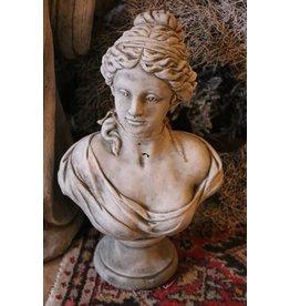 Concrete bust female bust