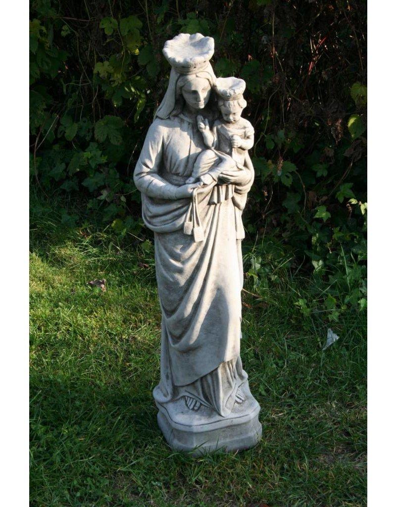 Betonnen Maria Beeld met Kind