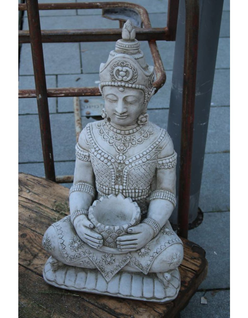 Boeddha Beeld Beton.Betonnen Boeddha Beeld Klein Model Met Punthaar Brocanteschuur De