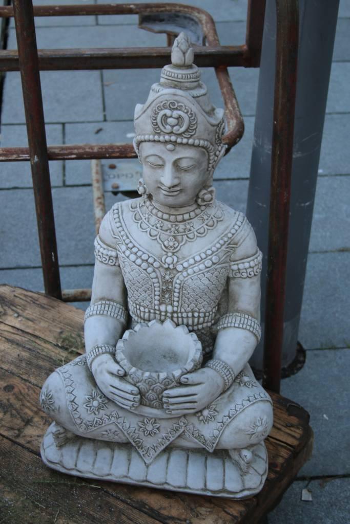 Boeddha Beeld Beton.Betonnen Boeddha Beeld Klein Model Met Punthaar