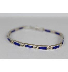Zilveren armband blauwstenen 'Berfu'