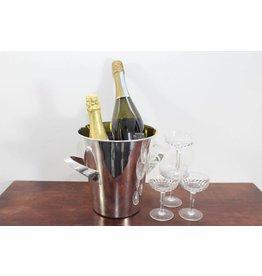 Verzilverde Amerikaanse champagne koeler