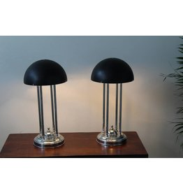 Art Deco lampen set zwart zilver limited edition