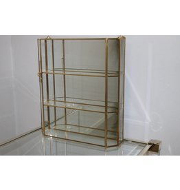 Gold display case Italian 24 ct gold-plated