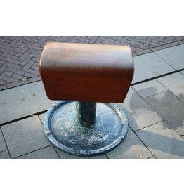 Vintage turn or gym box seat bench
