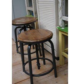 Vintage industrial stool adjustable