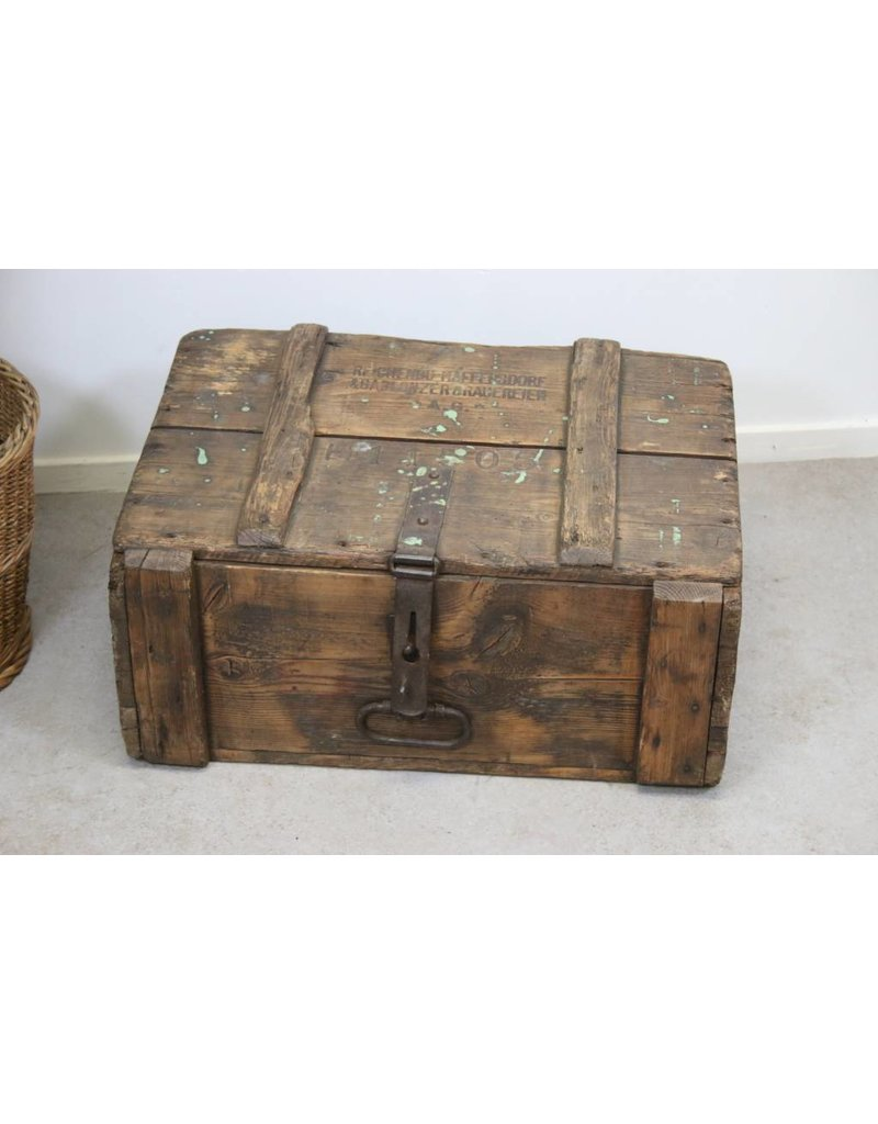 Oude Houten Kisten.Oude Houten Bier Transport Kist 1900
