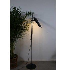 Vintage Zwarte vloerlamp 70 jaren