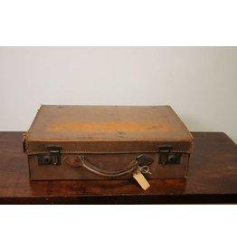 Leren klein koffer bruin 43 x 28 x 12