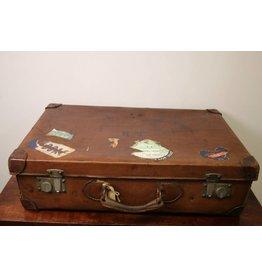 Zware Leren Koffer 1900   65 x 39 x 18