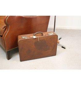 Lederen koffer bruin