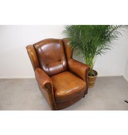 Schaapsleren Oorfauteuil leren stoel