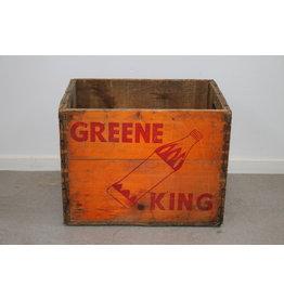 Green King Orange Wooden Soft drinks box 6-68
