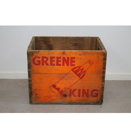 Green King Oranje Houten Frisdranken kist 6-68