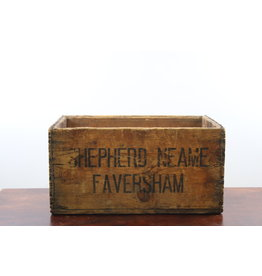 Old Wooden Beer Box shepherd neame faversham