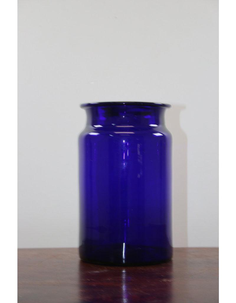 Blauwe Glazen voorraad Pot