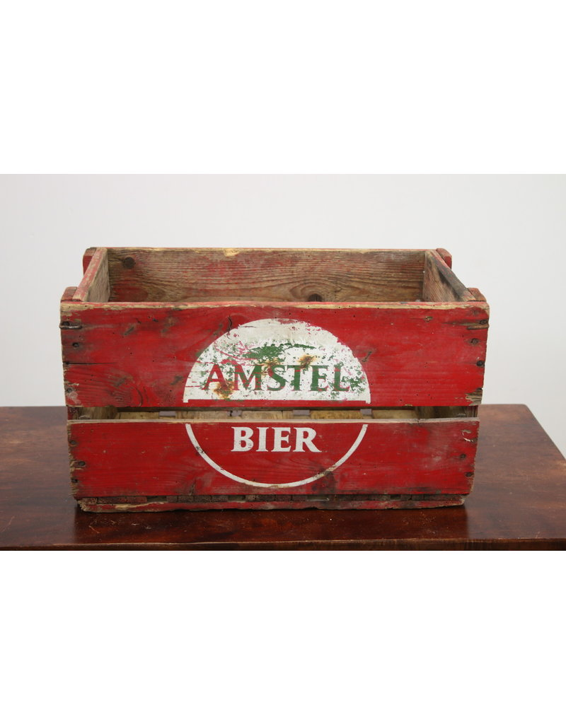 Oude Houten Kisten.Oude Houten Amstel Bier Kist