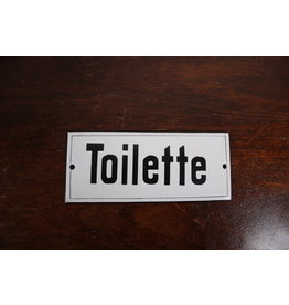 Witte emaillen Bord Toilette Frans