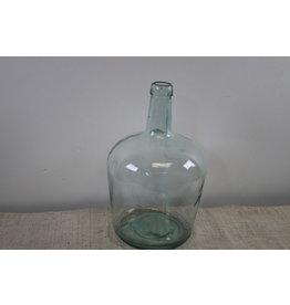 Oude wijnfles helder glas
