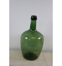 Oude wijnfles groen glas