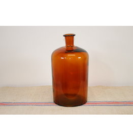 Apothekersfles groot bruin glas