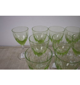 Wine glasses narrow Anna green