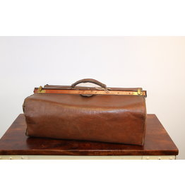 Leather Brown Doctor's Bag 55 cm wide