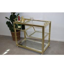 Gouden Italiaanse Design Trolley