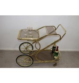 Gouden Grote Italiaanse style Trolley