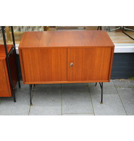 Vintage TV furniture or side table with metal legs