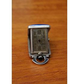 Silver Pocket Watch enamelled Levy Wander 925 sterling